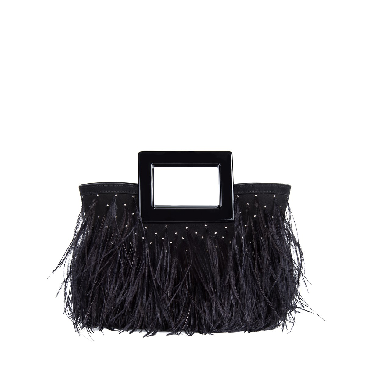 Micro Riviera in Feathered Black Suede1