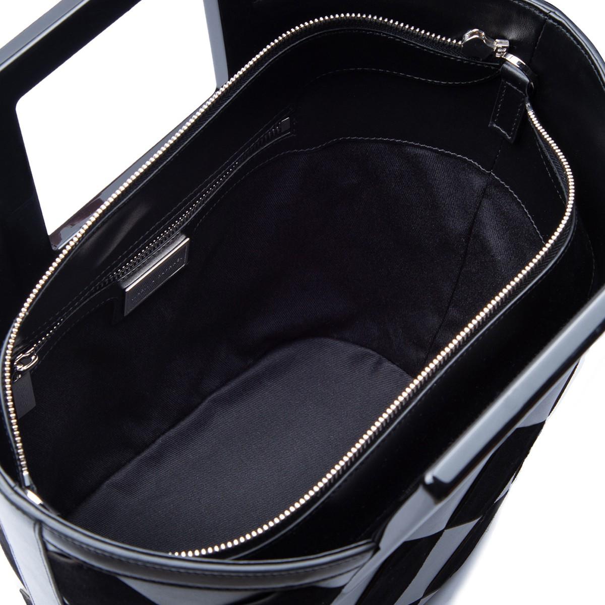 Mini Riviera in Black Woven Leather4